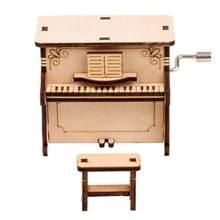 Diy деревянная модель пазла самостоятельная сборка музыкальная