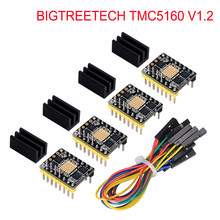Bigtreetech tmc5160 v1.2 spi motor deslizante driver de 6 camadas vs tmc2208 tmc2209 peças de impressora 3d para ender 3/5 skr v1.4 v1.3 pro