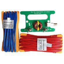 Equilíbrio ununtenna 10w balun 9:1 uso com sintonizador com interface de interface bnc e cabo longo para sdr