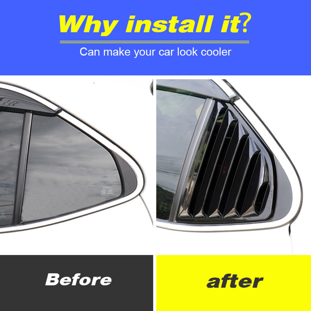 Vtear For Toyota Camry Rear window triangle ABS decoration car-styling cover exterior frame chrome accessories Trim parts 2020 2