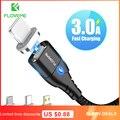 FLOVEME Магнитный кабель Micro Тип USB C для iPhone12 осветительный кабель 1 м 3A провод для быстрого заряда Type-C магнит Зарядное устройство телефонный ка...