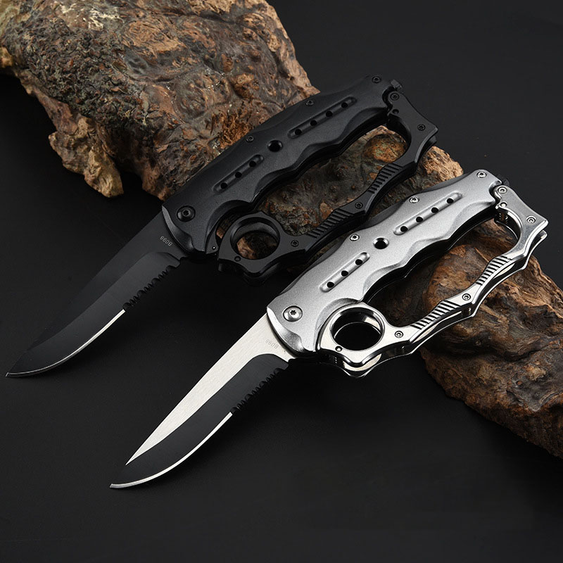 Outdoor Walking Camping Self-defense  Knife Multi-function Folding Knife Hunting EDC Portable Rescue Self-defense Knife