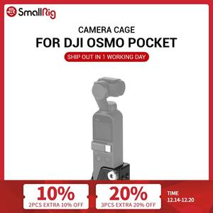 """Image 1 - SmallRig Osmo Cage for DJI Osmo Pocket Features a 3/8"""" 16 and nine 1/4"""" 20 threaded holes for Camera Tripod Attachment  CSD2321"""