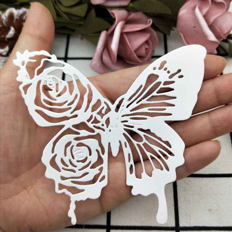 Rose Edge Butterfly Metal Cutting Dies Large Size Scrapbooking For Wedding Card Making DIY Embossing Cuts New Craft Pattern