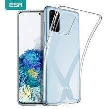 ESR dla Samsung Galaxy S21 Ultra S21 S20 Plus S20 Ultra przypadku wyczyść TPU pokrywa dla Samsung A8 A71 A40 A51 S8 S10 e uwaga 10 9 przypadku