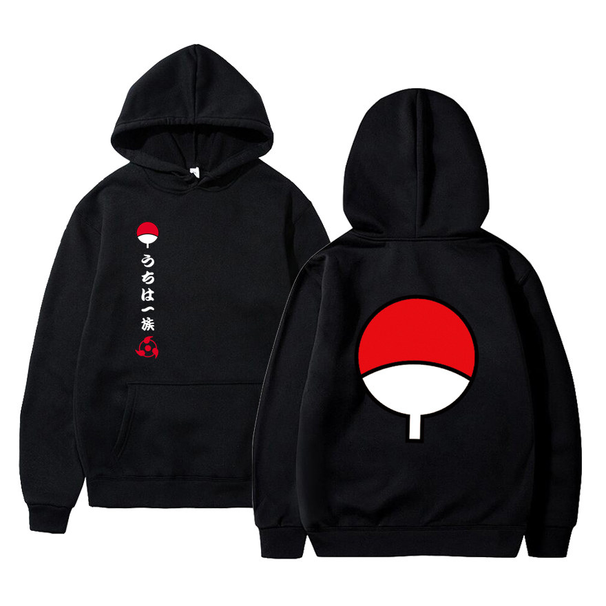 2020 New Anime Naruto Winter Hoodies Fleece Warm Jacket Coat Uchiha Hatake Uzumaki Clan Badge Hoodie Sweatshirt Unisex Clothes