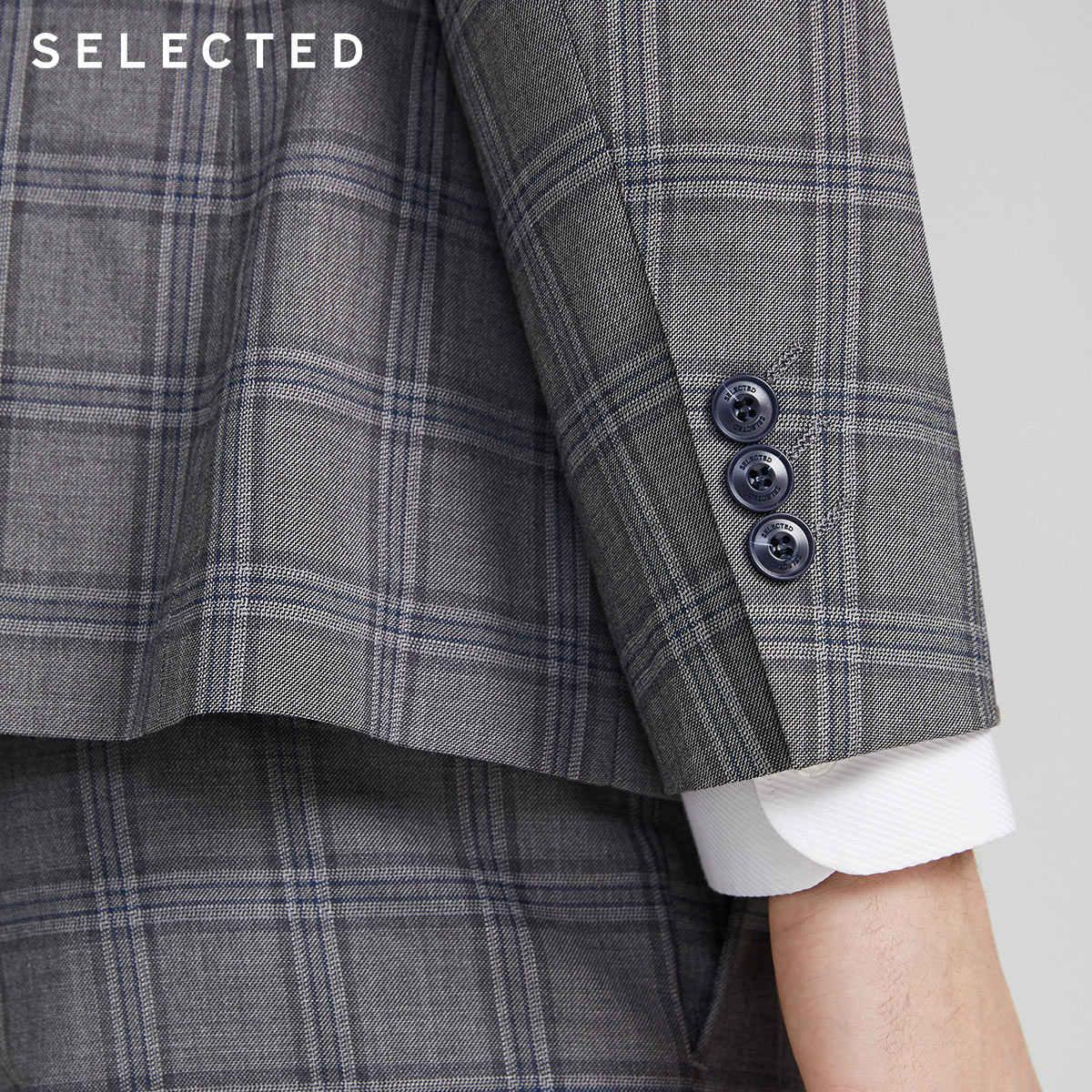 SELECTED 남성 캐주얼 자켓 격자 무늬 무늬 블레이저 S   42015X509