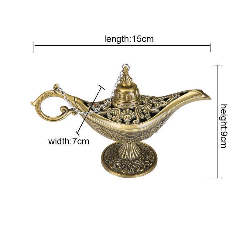 Ближний Восток Aladin лампа фигурка волшебная лампа чайник арабское украшение дома аксессуары позолоченная эмаль Металлическая лампа орнамент