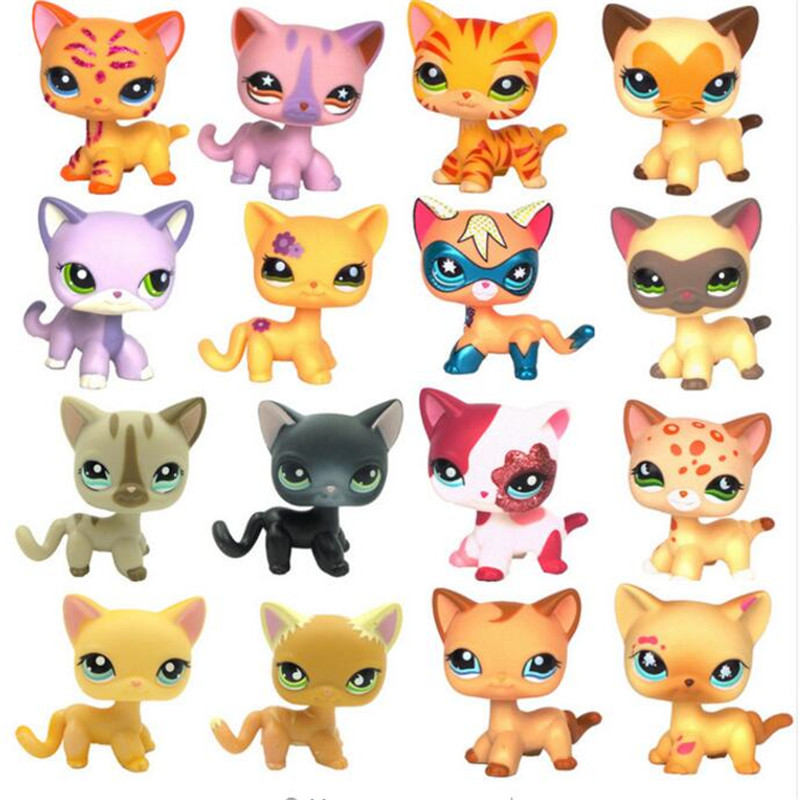 Pet Shop Lps Toys Dog GREAT DANE Collection Real White Brown Old Puppy Littlest Animal Figure Cute Child Gift  Dragon Ball