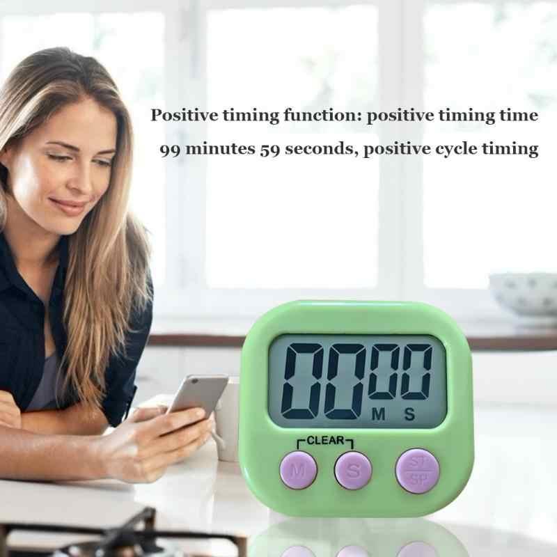 Minuterie électronique LCD affichage numérique écran minuterie magnétique Table de cuisson compte à rebours horloge chronomètre avec support pour l'approvisionnement en cuisine