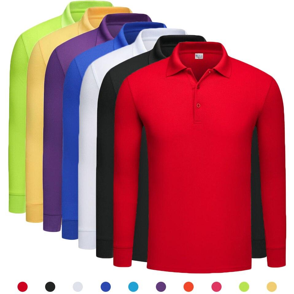NIGRITY 2019 Autumn Mens Long Sleeve   Polo   shirt Men Casual Solid Color   Polo   Shirts DIY Logo (min 10 pieces to customize logo)