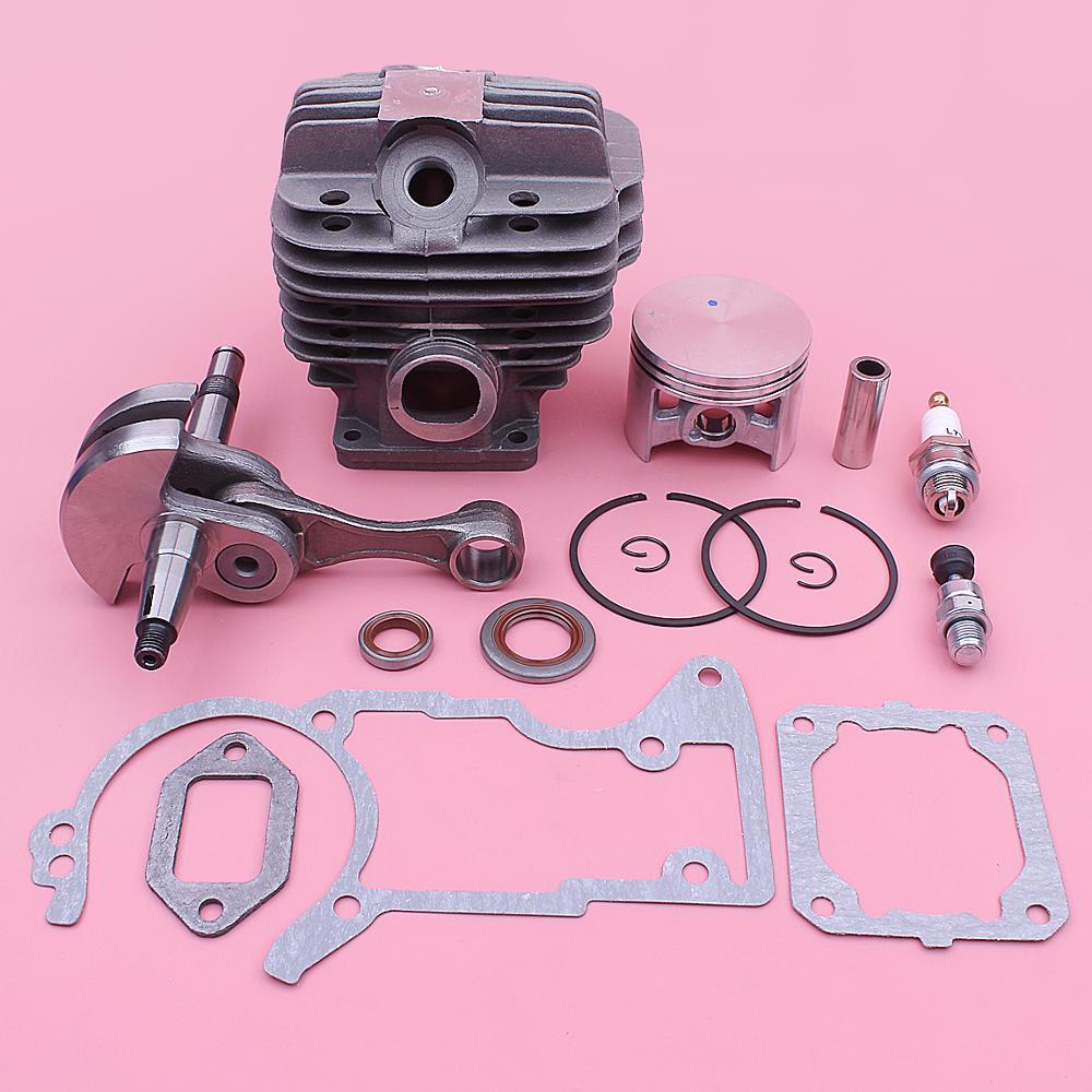 52mm Cylinder Crankshaft Oil Seal Piston Kit For Stihl MS440 044 Chainsaws 1128 020 1227, 1128 029 2301 W Complete Gaskets Set