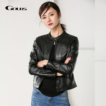 Gours женские Куртки из натуральной кожи классические модные