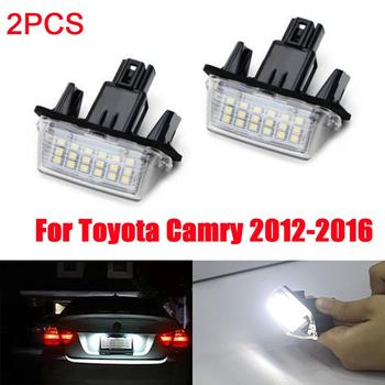 цена на 2Pcs No Error Led car License Plate Lights For Toyota Corolla Camry 2012-2016/Yaris /Prius /Vitz / Avensis Verso Number Lamp