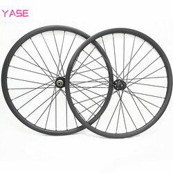 YASE 29er węgla mtb koła tarczowe XC 37x24mm symetrii bezdętkowe koła rowerowe NOVATEC D791SB-D792SB 100x15 142x12 koła rowerowe