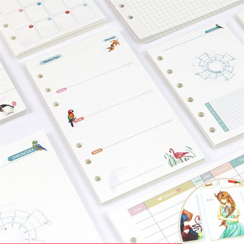 Forest Series Loose Leaf Notebook Refills 6 Holes Spiral Binder Planner Inner Page Inside Paper Dairy Weekly Monthly Plan sass page 6