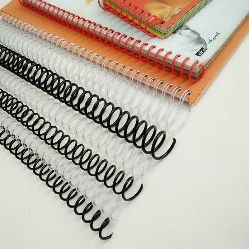 10PCS A4 46 Hole Loose Leaf Binding Ring DIY Notebook Binder Rings Spiral Rubber Rings Spring Punch Ring Book Buckle Hoop Coil