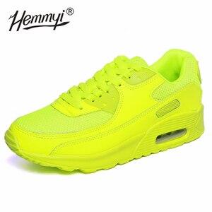 Image 3 - Hemmyi女性スニーカー夏通気性メッシュブランドの靴黒、緑、赤tenis femininoレディース靴バスケットファム