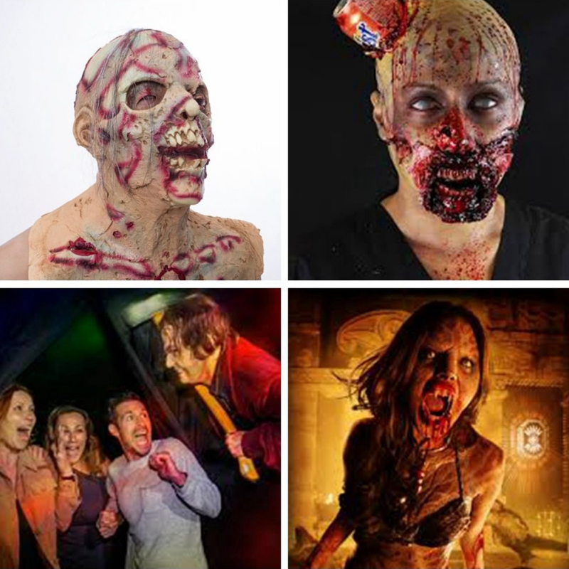 New Arrival Halloween Horror Latex Zombie Mask Halloween Dress Up Props for Festive Party Supplies Lifelike Creative Products in Party Masks from Home Garden