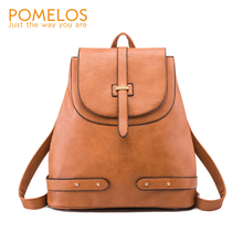 POMELOS New Arrivals Women Backpack High Quality PU Leather Material Function Bag For Traveling Female Girls