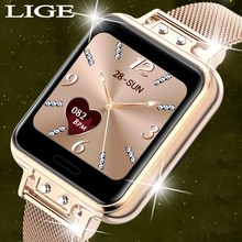 LIGE 2020 New Smart Watch Women Heart Rate Women Menstrual Cycle Multifunction Ladies Smartwatch Fitness Tracker For Android IOS