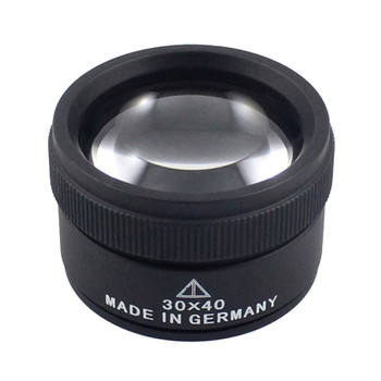 Premium 30x 40mm Measuring Magnifier Magnifying Glass Lens Loop Microscope for Coins Stamps Jewelry Lupe Jewelry Loupe Tools
