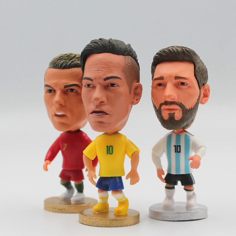 Soccer Star 6.5 Cm Height Resin Dolls C.RONALDO & MESSI & NEYMAR 2019 Season 2.5