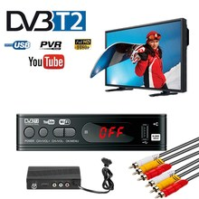TV Tuner DVB T2 USB 2,0 TV Box HDMI HD 1080P DVB T2 Tuner Receiver Satellite Decoder Gebaut in russische Manuelle Für Monitor Adapter
