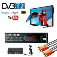 TV Tuner DVB T2 USB2.0 TV Box HDMI HD 1080P DVB T2 Tuner Receiver Satellite Decoder Built in Russian Manual For Monitor Adapter