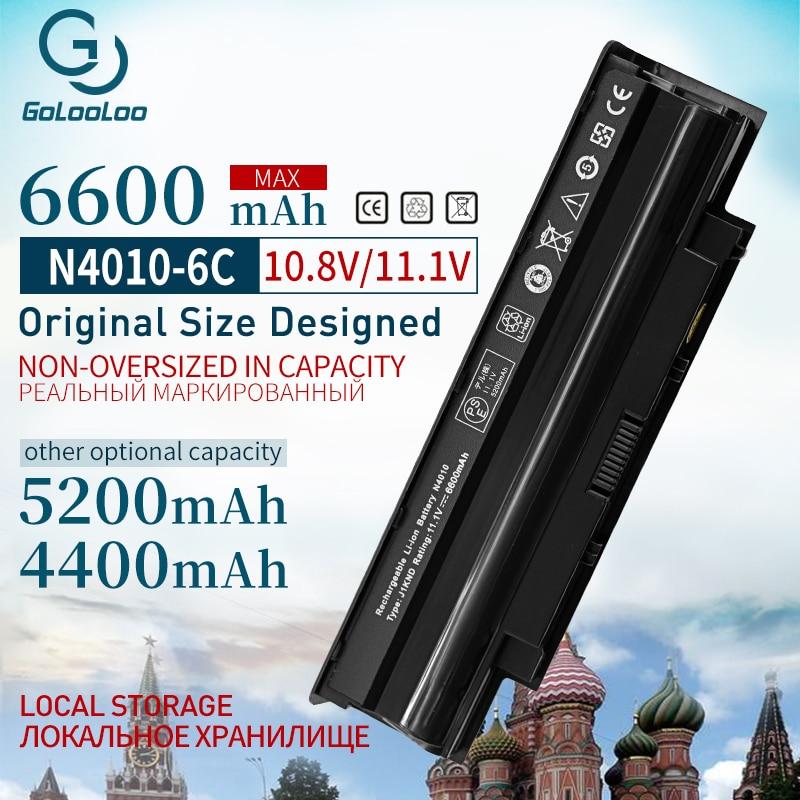Golooloo 11.1v 4400mah Laptop Battery for Dell Inspiron 13R N3010 14R N4010 15R N5010 17R N7010 M501 J1KND 451-11510 9TCXN j1knd
