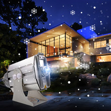 Free Shipping 2019 Laser Projector Logo Outdoor 80W Adjustable Snowflake Gobo Led Projection Lamp Advertising Lights New Arrival(China)