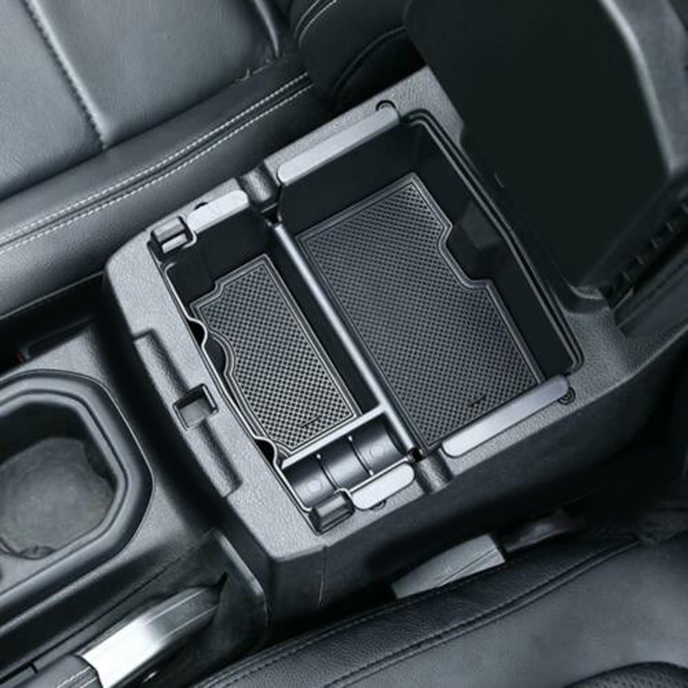 Black Console Box Center Storage Organizer Armrest For Jeep Wrangler JL 2018+|Stowing Tidying|   - title=