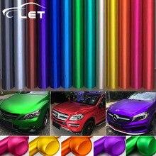 Автомобильный Стайлинг матовый хром виниловые автомобильные обертывания наклейка меняющая цвет автомобиля наклейка с воздушными пузырьками авто аксессуары