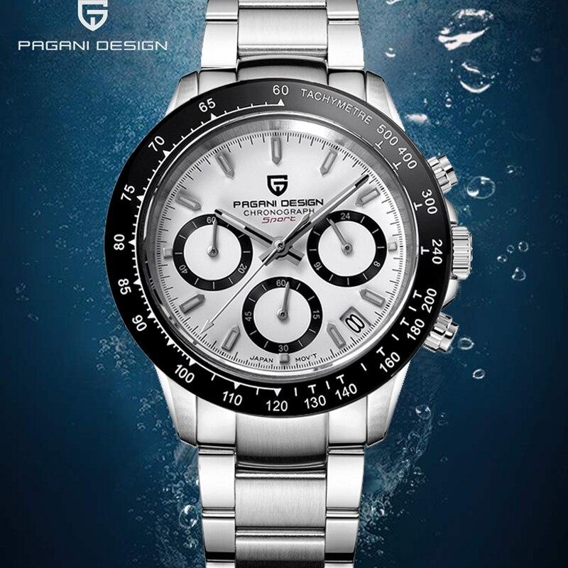 PAGANI Men's Watches Top Brand Luxury Quartz Watch Men Sport Chronograph Watch Men Clock Sapphire Mirror Relogio Masculino 2019