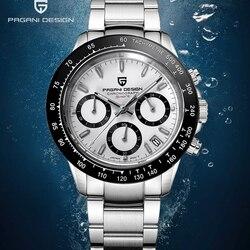 Pagani relógios masculinos topo da marca de luxo relógio de quartzo dos homens esporte cronógrafo relógio masculino safira espelho relogio masculino 2019