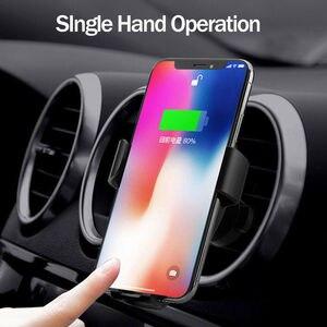Image 4 - Supporto di serraggio automatico per sensore a infrarossi per caricabatterie per auto Wireless Qi da 10W per iPhone 8 Plus supporto per telefono a ricarica rapida per auto Samsung S9