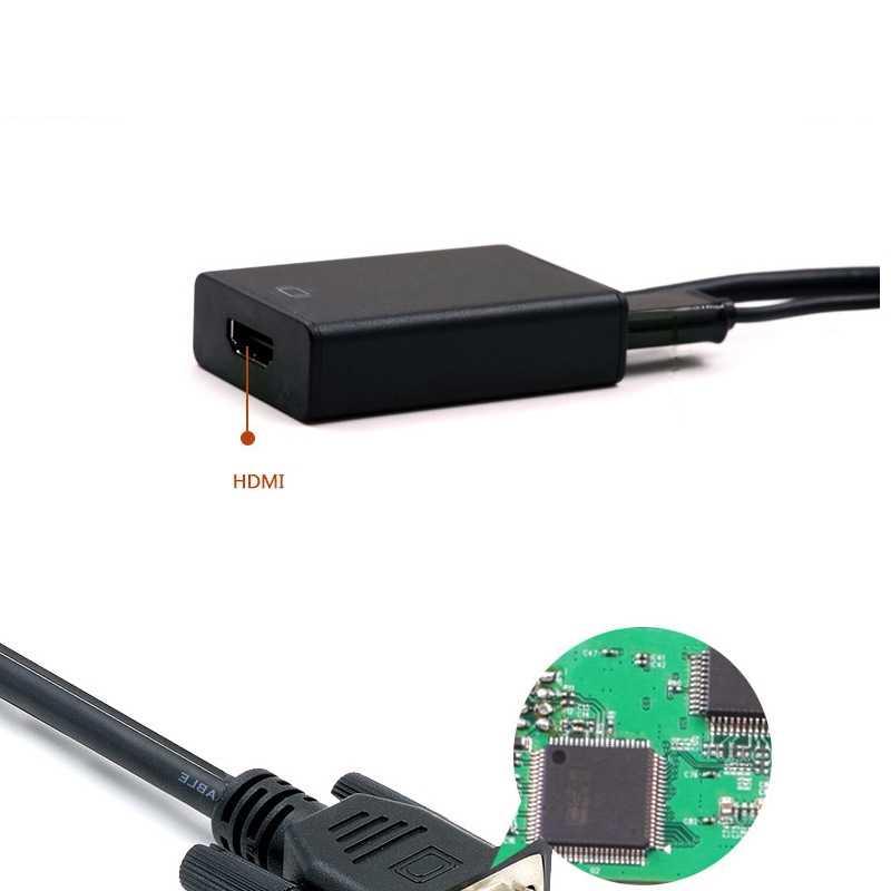 VGA мужчина к HDMI Женский видео кабель конвертер аудио кабель ТВ АВ HD tv 1080P Высокое разрешение VGA к HDMI адаптер