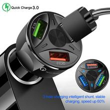 Ładowarka samochodowa USB QC 3 0 ładowarka samochodowa adapter do iphone #8217 a USB szybkie ładowanie ładowarka samochodowa do telefonu komórkowego ładowarka samochodowa usb do motocykli cheap CN (pochodzenie) 3 USB cocket 1port QC3 0 Fast Charge Car Charger 25 g 3 6 cm China Cigarette Lighter socket 7 cm ABS fire-proofing
