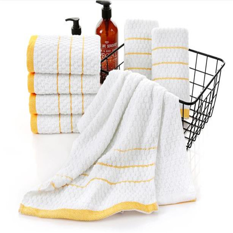 Cotton 80 Grams Of Gold Merbau Bath Towel Hotel Disposable Supplies   0098A