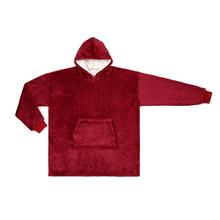 Ponad rozmiar koc bluza praktyczna ponad rozmiar miękka bluza z kapturem gruby ciepły zimowy płaszcz z kapturem szlafrok bluza polarowa dla mężczyzn tanie tanio CN (pochodzenie)