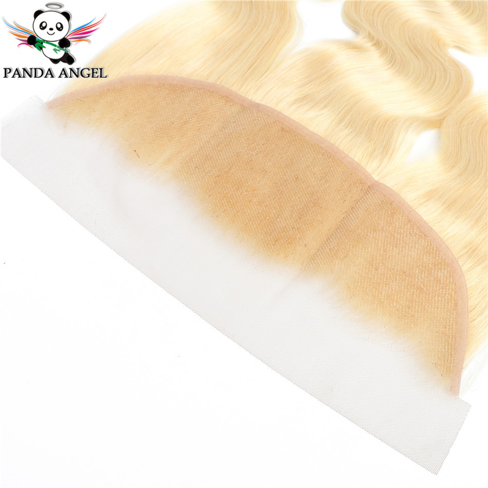 Panda Angel 13x4 Lace Frontal 613 Blonde Brazilian Remy Human Hair Body Wave Lace Frontal 13*4 Ear To Ear Lace Frontal Closure