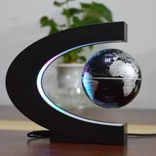 Магнитная левитация Глобус плавающий карта мира шаровая лампа