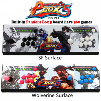 Pandora box 5 960 in 1 Arcade Game Console for TV & PC & PS3 Monitor Support HDMI and VGA Output with Copy Sanwa Joystick