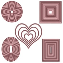Heart Circle Rectangle Oval Frame Metal Cutting Dies for DIY Scrapbooking Crafts Die Cut Stencils Card Make Paper Album Template square star heart rectangle circle dies frame metal cutting die for diy scrapbooking paper cards die cuts photo album making