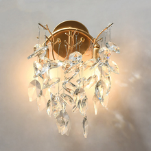 Modern Crystal Wall Lamp Lights Bedroom Bathroom Sconce Living Room Bedside Dining Home Decorative Light