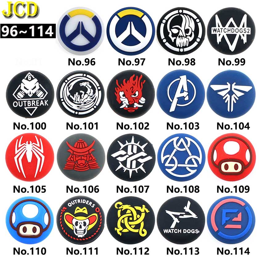 JCD 1PCS Analog Thumb Stick Grips Joystick Cover for PS5 PS4 Pro Slim PS3 Controller Thumbstick Cap for Xbox 360  One X S