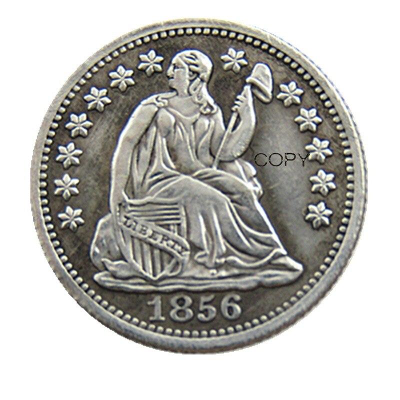 USA 1856-P-O Liberty Seated Half Dime Copy Coins