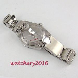 Image 4 - 41mm Corgeut siyah kadran aydınlık tarih dağıtım toka SS band üst marka safir cam Miyota otomatik mekanik erkek saati