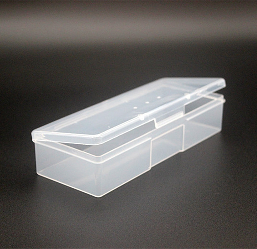Plastic Transparent Nail Manicure Storage Box Nail Tools Organizer Case Dotting Drawing Pens Buffer Grinding Files Container Box