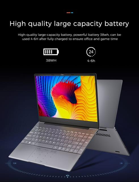 "Laptop KUU K2, Metal, 14.1"" FHD (1.920x1.080) IPS, Intel Celeron J4115, 8G RAM, 256GB/512GB SSD, Fingerprint Unlock, Windows 10 6"